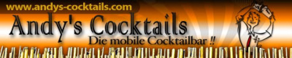 Andy´s mobile Cocktailbar und Barkeepervermietung